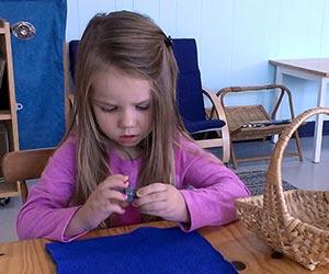 Casa Montessori practical life work